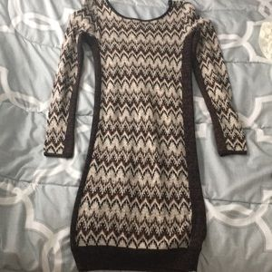 Free people small knit scoop back bodycon dress